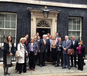 Democracy Declaration team at No 10 11 July 2014