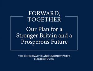 Conservative Manifesto cover 2017